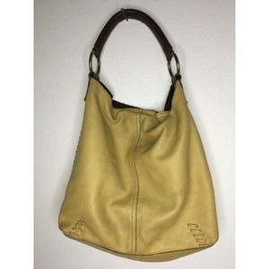 Lucky Brand Hobo Bag Single Strap Leather Yellow